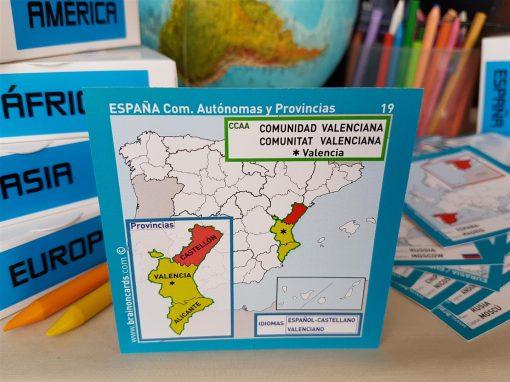 Baraja de cartas comunidades y provincias de España. Castellón (Comunidad Valenciana)