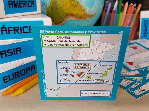 Baraja de cartas comunidades y provincias de España. Santa Cruz de Tenerife (Canarias)