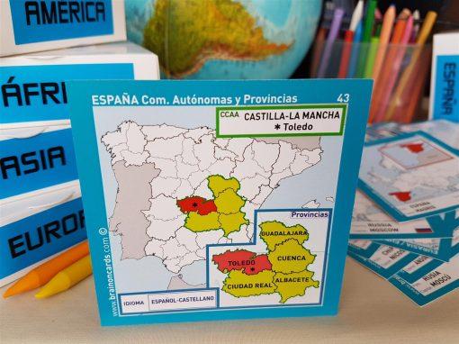 Baraja de cartas comunidades y provincias de España. Toledo (Castilla-La Mancha)