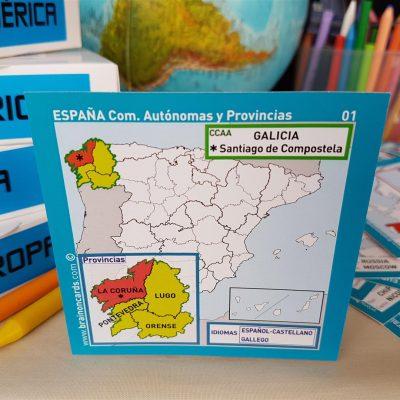 Baraja de cartas comunidades y provincias de España. La Coruña (Galicia)