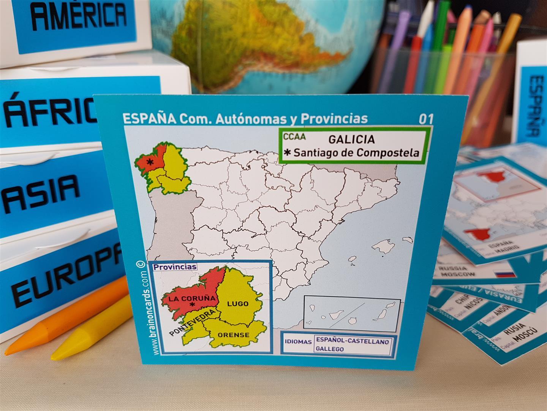 España comunidades provincias Galicia La Coruña