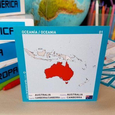 Países y capitales de Oceanía ¡aprende jugando! Australia.