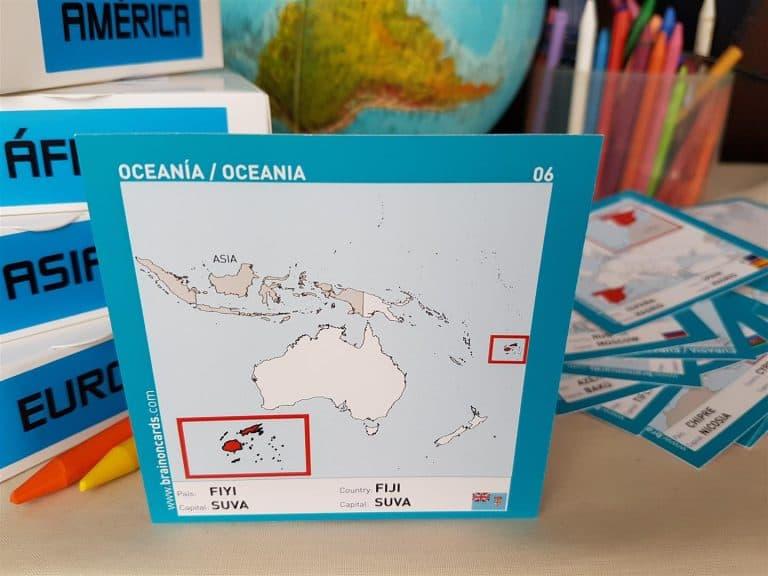 Países y capitales de Oceanía ¡aprende jugando! Fiyi.