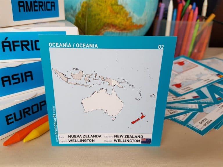Países y capitales de Oceanía ¡aprende jugando! Nueva Zelanda.