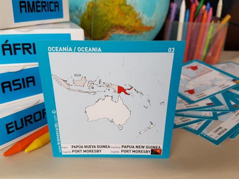 Países y capitales de Oceanía ¡aprende jugando! Papúa Nueva Guinea