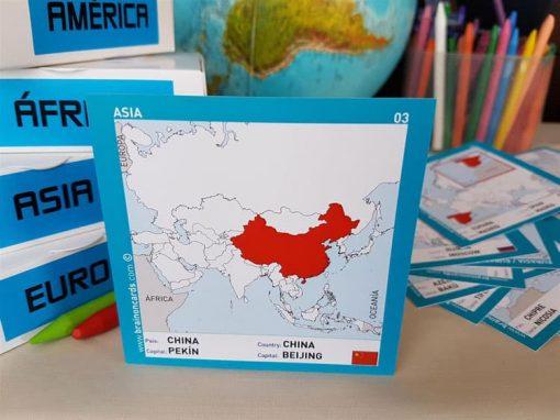 Países y capitales de Asia ¡aprende jugando! China