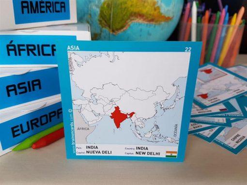 Países y capitales de Asia ¡aprende jugando! India