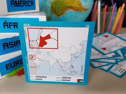 Países y capitales de Asia ¡aprende jugando! Jordania