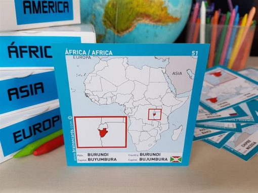 Países y capitales de Africa ¡aprende jugando! Burundi.