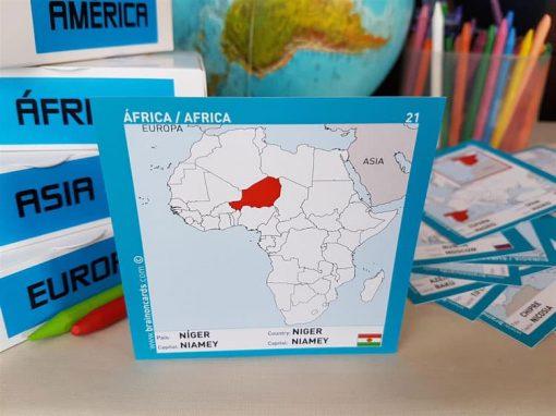 Países y capitales de Africa ¡aprende jugando! Níger.